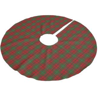 一族のMacAulayのスコットランドのタータンチェック ブラッシュドポリエステルツリースカート