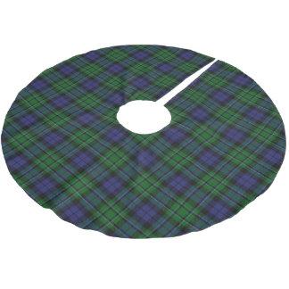 一族のMacCallumのスコットランドのタータンチェック ブラッシュドポリエステルツリースカート