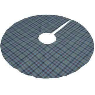 一族のMacCrimmonのスコットランドのタータンチェック ブラッシュドポリエステルツリースカート
