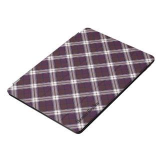 一族のMacDonaldの服のタータンチェック及びモノグラムのな名前 iPad Proカバー