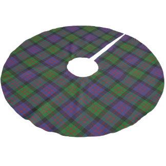 一族のMacDonaldスコットランドのドナルドのタータンチェック ブラッシュドポリエステルツリースカート