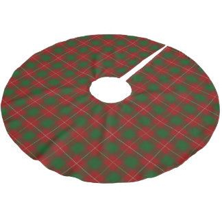 一族のMacDuffeeのスコットランドのタータンチェック ブラッシュドポリエステルツリースカート