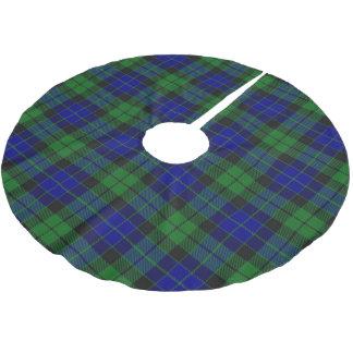 一族のMacKayのスコットランドのタータンチェック ブラッシュドポリエステルツリースカート