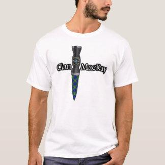 一族のMacKayのタータンチェックのスコットランド人Sgian Dubh Tシャツ