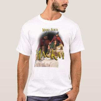 一族のMacKay Manu Fortiの高地のゲーム Tシャツ