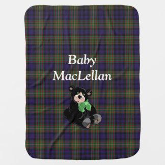 一族のMacLellanのタータンチェック格子縞のベビーブランケット ベビー ブランケット