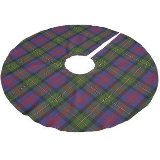 一族のMacLennanのスコットランドのタータンチェック ブラッシュドポリエステルツリースカート