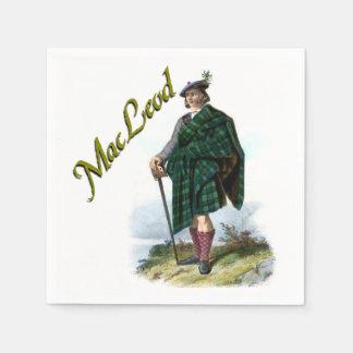 一族のMacLeodのスコットランドの夢のナプキン スタンダードカクテルナプキン