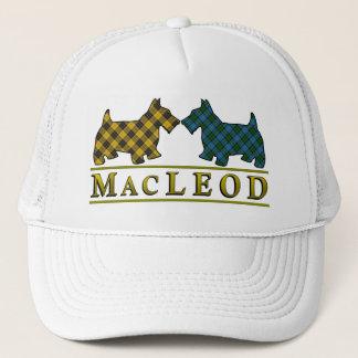 一族のMacLeodのタータンチェックのスコッチテリア犬 キャップ