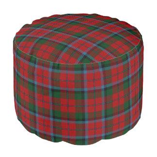 一族のMacNachtanのスコットランド人のスタイルの赤い緑のタータンチェック ラウンドクッション