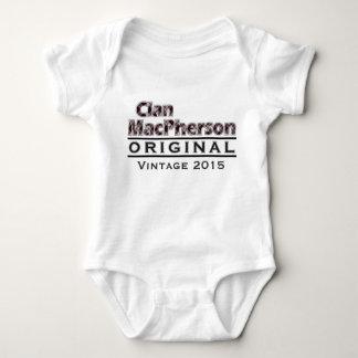 一族のMacPhersonのヴィンテージはあなたのBirthyearをカスタマイズ ベビーボディスーツ