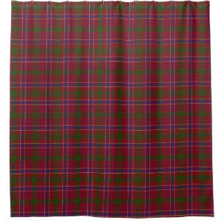 一族のMacRaeのスコットランドの伝統のモダンで赤いタータンチェック シャワーカーテン