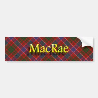 一族のMacRaeのスコットランド人 バンパーステッカー