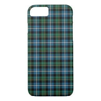 一族のMacRaeのターコイズおよび緑の狩りのタータンチェック iPhone 8/7ケース
