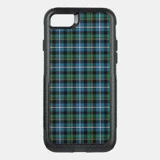 一族のMacRaeの狩りのタータンチェックの緑および青の格子縞 オッターボックスコミューターiPhone 8/7ケース