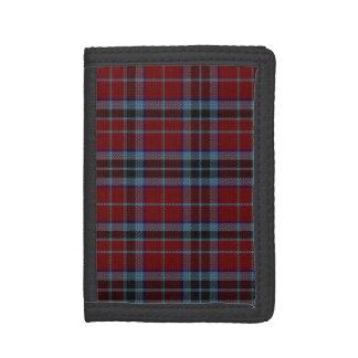 一族のMacTavishのタータンチェック格子縞の財布 ナイロン三つ折りウォレット