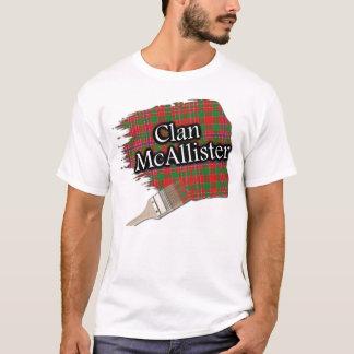 一族のMcAllisterのスコットランドのタータンチェックのペンキのワイシャツ Tシャツ