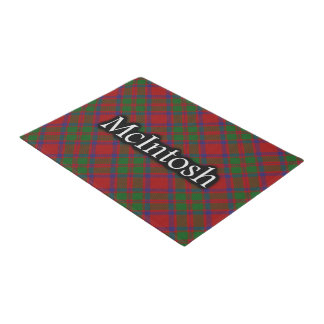 一族のMcIntoshのスコットランドのタータンチェック ドアマット