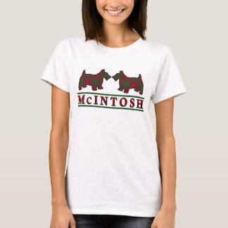 一族のMcIntoshのタータンチェックのスコッチテリア犬 Tシャツ