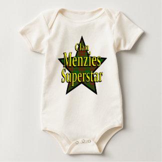 一族のMenziesのスーパースターの幼児オーガニックなクリーパー ベビーボディスーツ