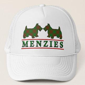 一族のMenziesのタータンチェックのスコッチテリア犬 キャップ