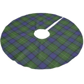一族のMuirのスコットランドのタータンチェック ブラッシュドポリエステルツリースカート