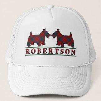 一族のRobertsonのタータンチェックのスコッチテリア犬 キャップ