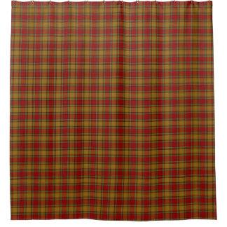 一族のScrymgeourのオレンジ赤のスコットランド人のタータンチェック シャワーカーテン