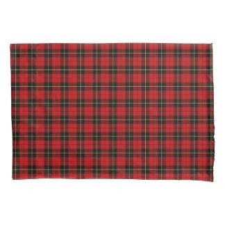 一族ウォーレスの赤くおよび黒いスコットランドの格子縞 枕カバー