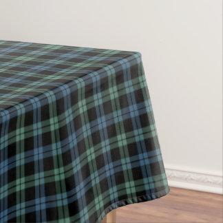 一族キャンベル淡いブルーおよび緑のスコットランドのタータンチェック テーブルクロス