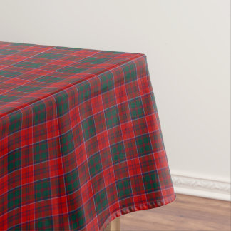 一族グラントの赤く、緑、および青のスコットランドのタータンチェック テーブルクロス