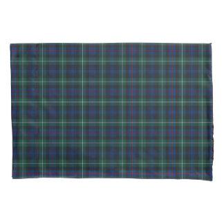 一族マッケンジーの青および緑のスコットランドの格子縞 枕カバー