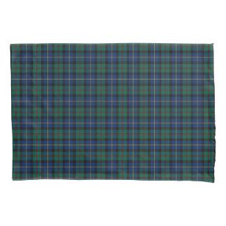 一族MacLeodの緑および青のスコットランドの格子縞 枕カバー