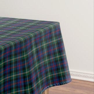 一族Maclolmの濃紺および緑のスコットランドのタータンチェック テーブルクロス