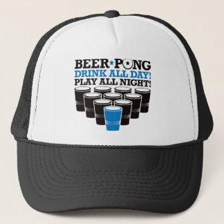 一晩中ビールPongの飲み物の終日の演劇の-青 キャップ