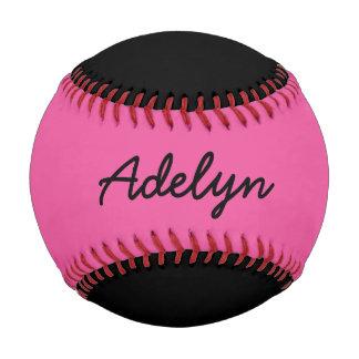 一流のカスタムで黒く、ピンクの野球を加えて下さい 野球ボール