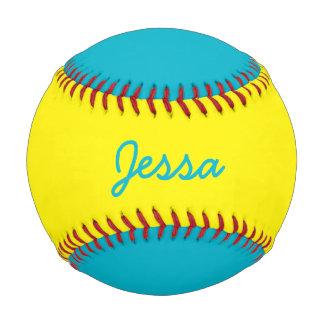 一流のカスタムな水の青および黄色の野球を加えて下さい ベースボール