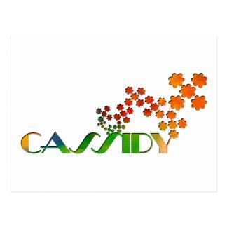 一流のゲーム- Cassidy ポストカード