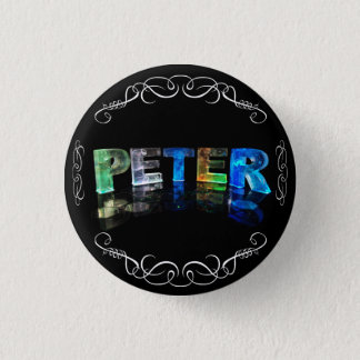 一流のピーター-ライト(写真)の名前 3.2CM 丸型バッジ
