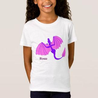 一流のワイシャツが付いている紫色のドラゴン Tシャツ