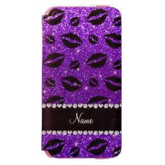 一流の口紅はインディゴの紫色のグリッターに接吻します INCIPIO WATSON™ iPhone 6 ウォレットケース