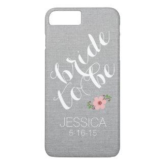一流の結婚式の日付があるカスタムで名前入りな花嫁 iPhone 8 PLUS/7 PLUSケース
