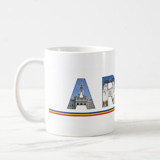 一流の記号の文字の中のarad都市ルーマニアの陸標 コーヒーマグカップ