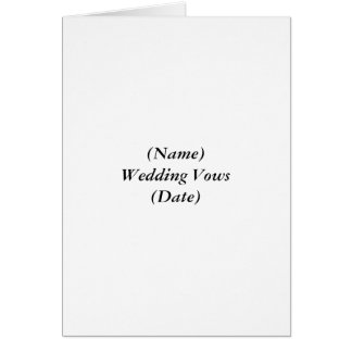 (一流の)結婚式誓約(日付) カード