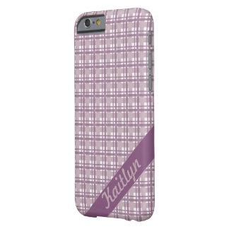 一流のphonecaseのパステル調の紫色のタータンチェックパターン barely there iPhone 6 ケース