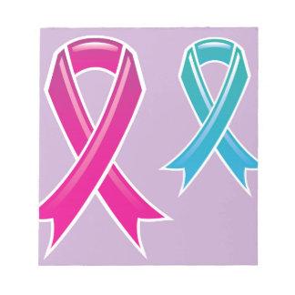 一流ピンクのリボン ノートパッド