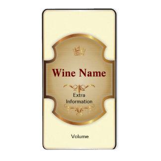 一番上の棚の白ワインのラベル ラベル