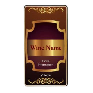 一番上の棚の赤ワインのラベル ラベル