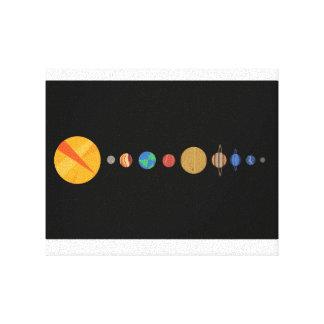 一直線に並ぶ惑星 キャンバスプリント