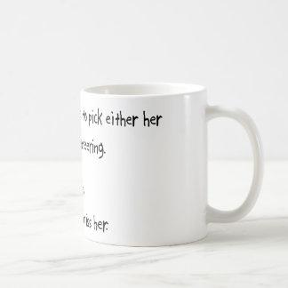 一突きのガールフレンドか土木技師 コーヒーマグカップ